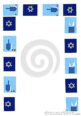 Hanukkah Border.