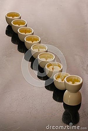 A hanukkah candelabrium