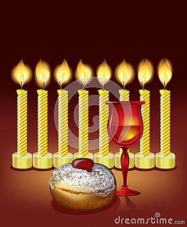 Hanukkah candles,