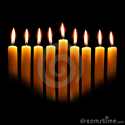 Free Hanukkah Candles Royalty Free Stock Image - 6665656