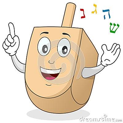 Free Hanukkah Dreidel Character Royalty Free Stock Images - 27126549