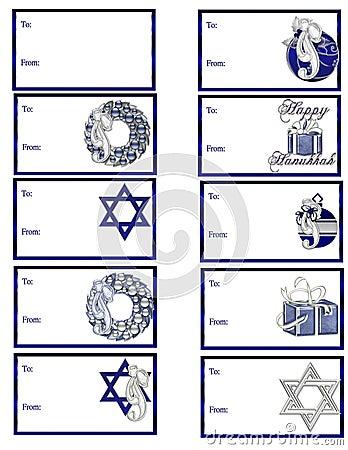 Hanukkah Gift Tags D1