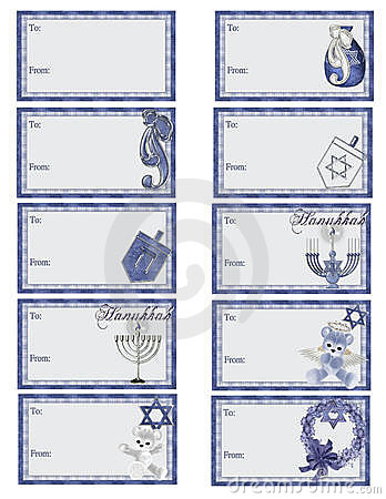 Hanukkah Gift Tags D2
