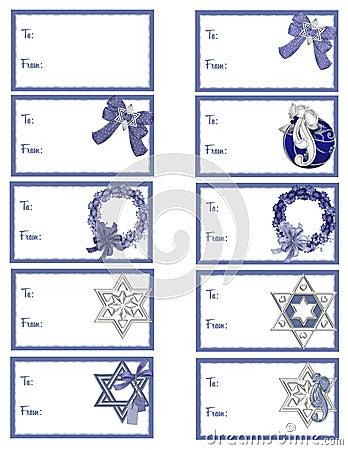 Hanukkah Gift Tags D3