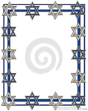 hanukkah jewish star border royalty free stock photography