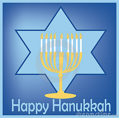Hanukkah light and star card
