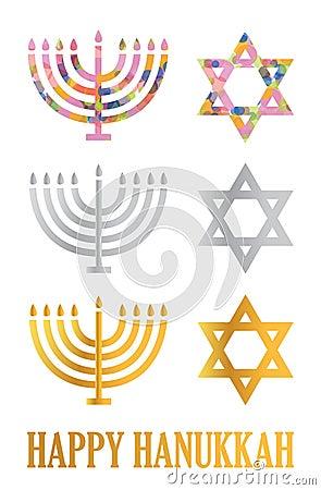 Hanukkah menorah and David s star