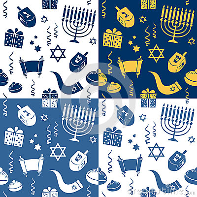 Hanukkah Seamless Patterns