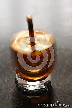 A Hanukkah spinning top.
