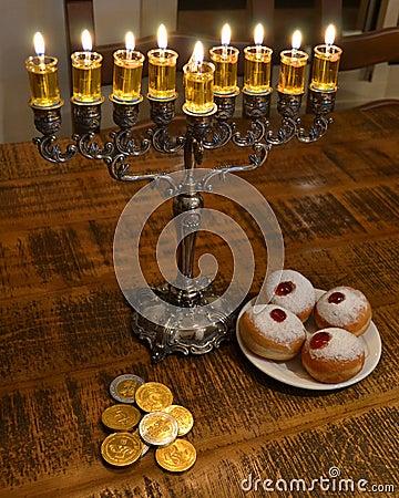 Hanukkah table