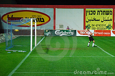 Hapoel Bnei Sakhnin s Goal Keeper Gets a goal Editorial Photo