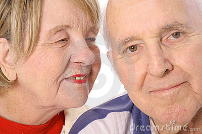 Happily married seniors in love