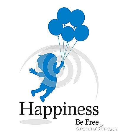 Free Happiness Be Free Logo Stock Photo - 20347730