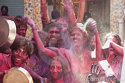 Happiness of Colors - The shot is taken in India Editorial Stock Image