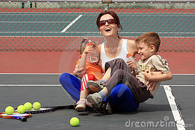 Happiness on the court