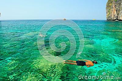 Happiness on diving Mahya Bay (or Maya Bay)