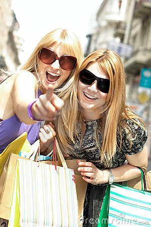 Happiness shopping woman