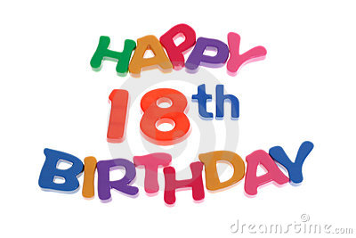 Happy 18th Birthday Royalty Free Stock Images Image 6180099