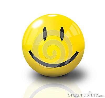 Happy 3D Smiley Face