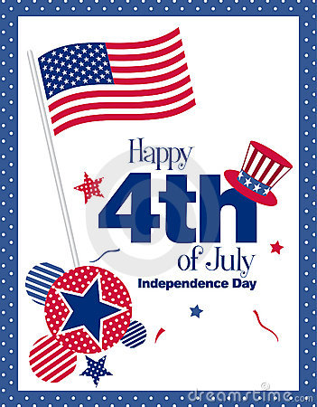 Free Happy 4th July Royalty Free Stock Photography - 19567557