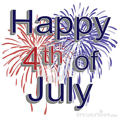 Free Happy 4th Of July Fireworks Royalty Free Stock Photography - 5232307