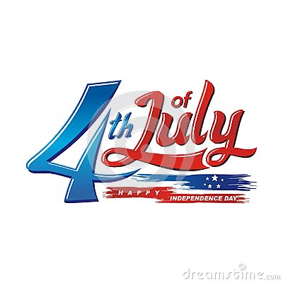 Free Happy 4th Of July, USA Independence Day Vector Design Royalty Free Stock Photos - 117321338