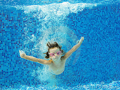 Happy Active Child Jumps To Swimming Pool Stock Photo Image 22700650