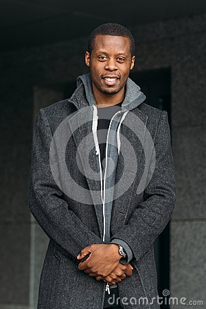 Free Happy African American Male. Street Fashion Royalty Free Stock Photography - 100869267