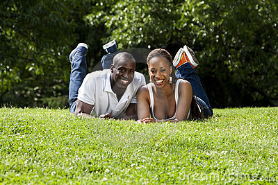 Happy African couple