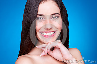 Happy and alluring woman