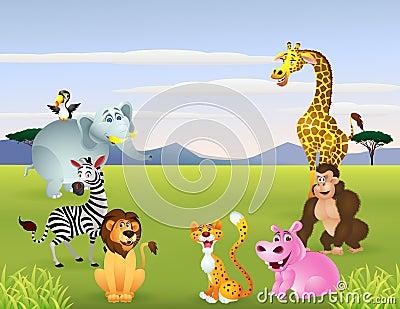 Happy animal cartoon