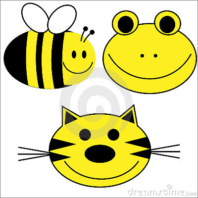 Happy Animals Tiger Bee Frog