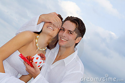 Happy anniversary couple in love