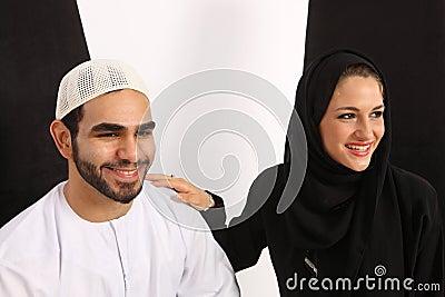Happy Arab Couple
