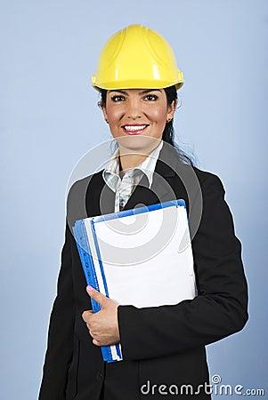 Happy architect woman