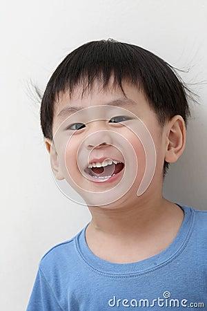 Happy asian boy