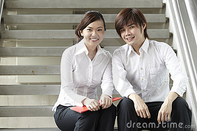Happy of Asian Business people