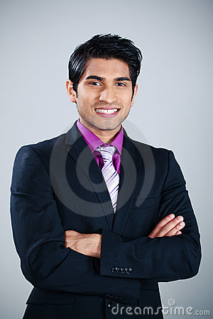 Happy Asian businessman