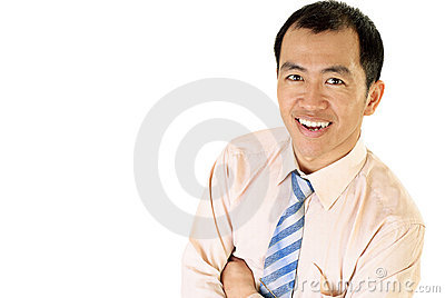 Happy Asian businessman smile