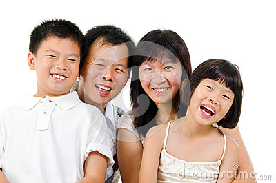 Happy Asian family