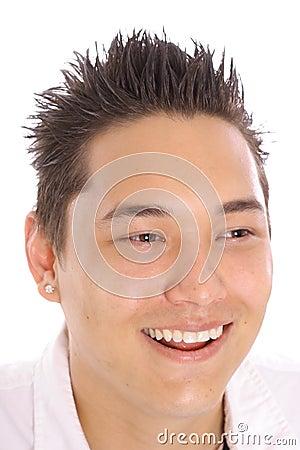 happy asian guy
