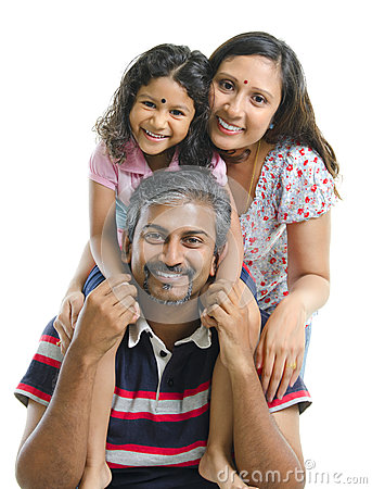Free Happy Asian Indian Family Royalty Free Stock Image - 25286306