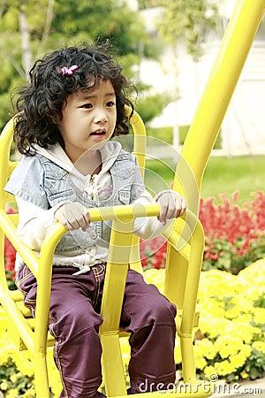 Happy Asian little girl