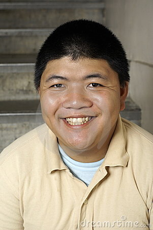 Happy asian man portrait
