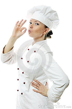 Free Happy Attractive Cook Woman Royalty Free Stock Photos - 3996328