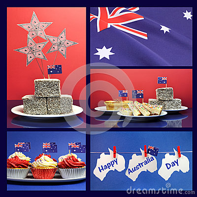 Happy Australia Day, January 26, collage