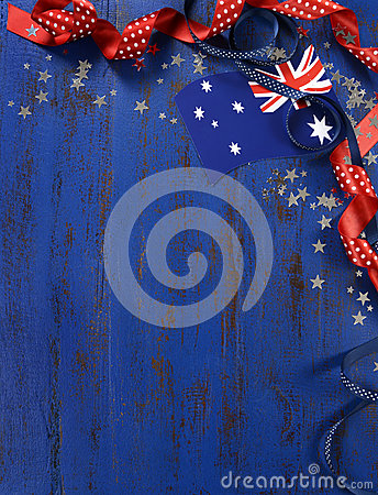 Happy australia day january 26 theme dark blue vintage for 26 january decoration