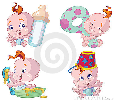 Happy baby cartoons