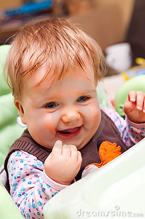 Free Happy Baby Girl Royalty Free Stock Photography - 17152977