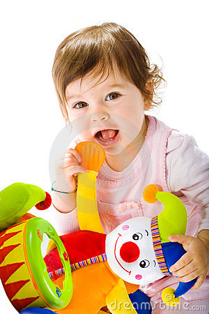 Free Happy Baby Playing Royalty Free Stock Photo - 8365635